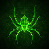 Abstract spider. Technology energy illustration Royalty Free Stock Photography