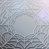 Abstract spiderweb banner Stock Photography