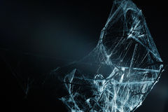 Abstract Spiderweb on black Stock Image