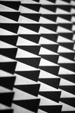 Abstract spike wall. Abstract closeup view of a spiked wall in black and white Stock Photo