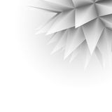 Abstract spikes background. Gray spikes arranged in the group in one corner Stock Photo