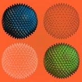 Abstract spiky geometric shape four stye Stock Image
