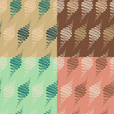 Abstract spindle  seamless pattern set Royalty Free Stock Photo