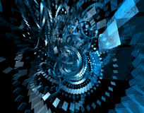 Abstract spinning boxes. 3D abstract render. Spinning boxes available in extremely high resolution Stock Photos