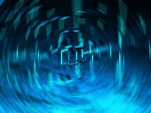 Abstract Spinning Composition in Blue Stock Photography