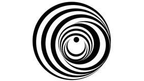 Hypnotic spiral illusion royalty free illustration