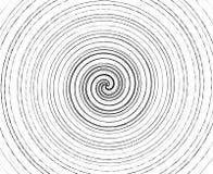 Abstract spiraalvormig element op onregelmatige, willekeurige manier geometrisch stock illustratie