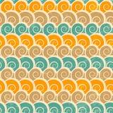 Abstract spiraalvormig strand naadloos patroon met grungeeffect Stock Foto's