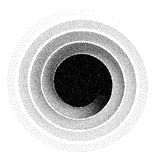Abstract spiral background. Black and white halftone stipple dots pattern. Eps8. RGB. Global color Stock Photography