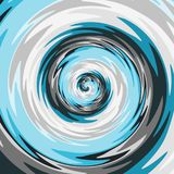 Abstract spiral background in blue, gray, and white. Color Royalty Free Stock Photography