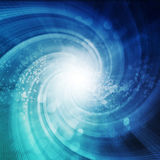 Abstract spiral background. With bokeh lights Royalty Free Stock Photo