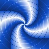 Abstract spiral background with circles in blue Royalty Free Stock Photo