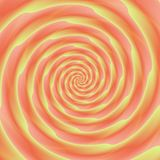 Abstract spiral background in orange and yellow Royalty Free Stock Photos