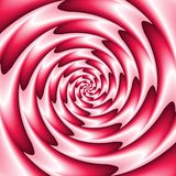 Abstract spiral background in red and white Stock Photo