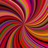 Abstract spiral background. Abstract swirl background from curved spiral ray stripes in multicolored dark tones - vector graphic Stock Images