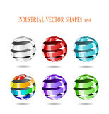 Abstract spiral balls. Stock Photos