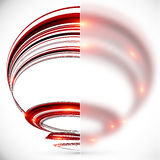 Abstract spiral with blurred glass banner Royalty Free Stock Photos