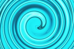Abstract spiral bright blue Stock Photos