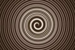 Abstract spiral brown Stock Photos