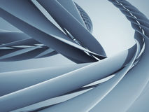 Abstract spiral curves modern hi-tech design background. 3d render illustration Stock Photography