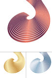 Abstract spiral element Stock Image