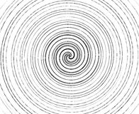 Abstract spiral element in irregular, random fashion. Geometric. Hypnotic vortex Stock Photography