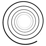 Abstract spiral element.  Twirl, swirl, whorl shape. Royalty Free Stock Image
