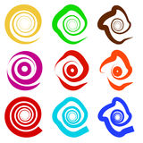 Abstract spiral elements. Abstract unique swirl, twirl shape on Royalty Free Stock Images