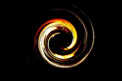 Abstract spiral flame Stock Photo
