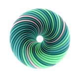 Abstract spiral green shape vector illustration