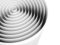 Abstract spiral helix black and white background. 3d vector illustration