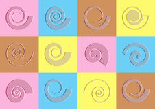 Abstract spiral icons Stock Photos