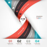 Abstract spiral infographics options banner. Stock Photography