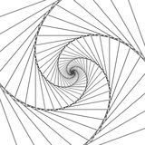 Abstract spiral lines black and white vector background Royalty Free Stock Photography