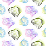 Abstract spiral lines vector seamless pattern. Stock Photography