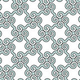 Abstract spiral  pattern. Including seamless sample in swatch panel Stock Photos