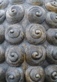 Abstract spiral radial texture, part of brass sculpture Stock Image
