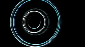 Abstract spiral rotating glow lines, computer generated background, 3D rendering background.  Royalty Free Stock Photo