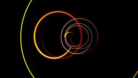 Abstract spiral rotating glow lines, computer generated background, 3D rendering background.  Royalty Free Stock Images