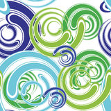 Abstract spiral seamless. Pattern for background - vector illustration. You can use it to fill your own background Royalty Free Stock Images