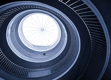 Abstract spiral staircase Stock Images