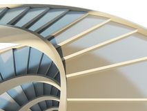 Abstract spiral staircase Stock Photography