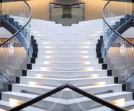 Abstract spiral staircase of a beautiful entry staircase Royalty Free Stock Images