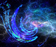 Abstract spiral star with a translucent Royalty Free Stock Images
