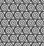 Abstract spiral vector seamless background. Royalty Free Stock Image
