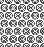 Abstract spiral vector seamless background. Royalty Free Stock Images