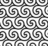 Abstract spiral vector seamless background Royalty Free Stock Photography