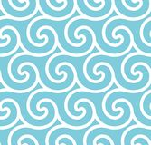 Abstract spiral vector seamless background Stock Photos