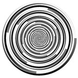 Abstract spirally element. Spinning, vortex graphic. Concentric Royalty Free Stock Photography
