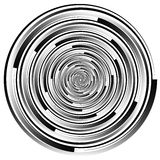 Abstract spirally element. Spinning, vortex graphic. Concentric Stock Photos